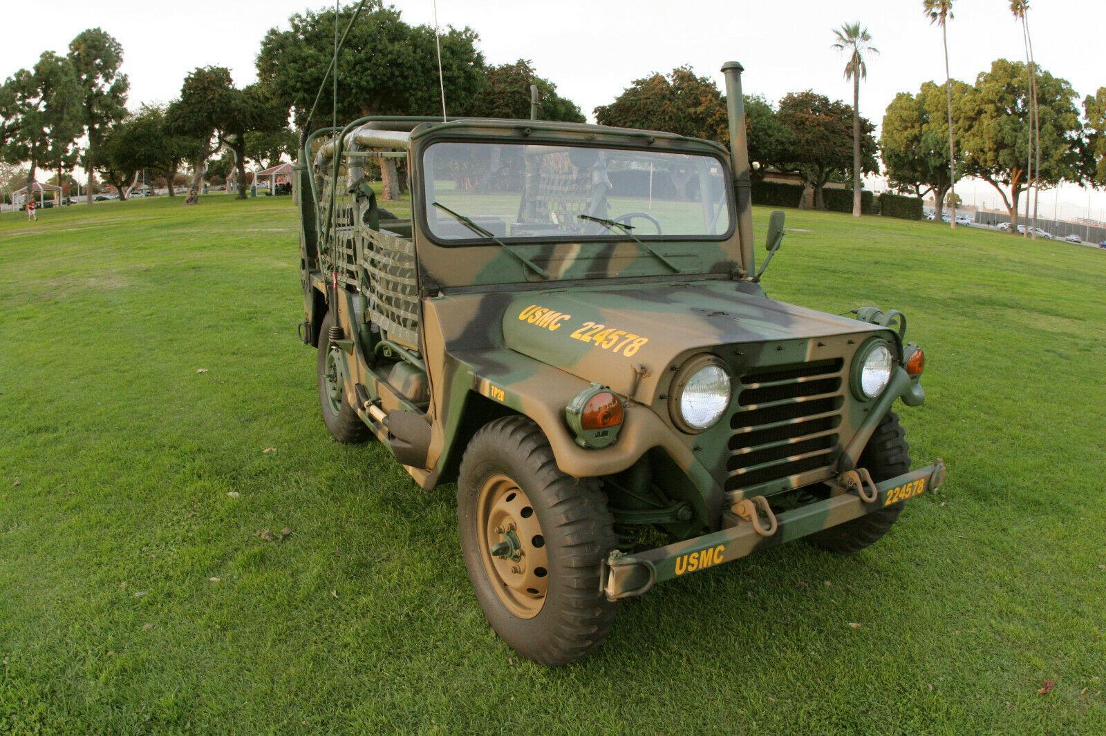 restored 1971 AM General M151A2 USMC military