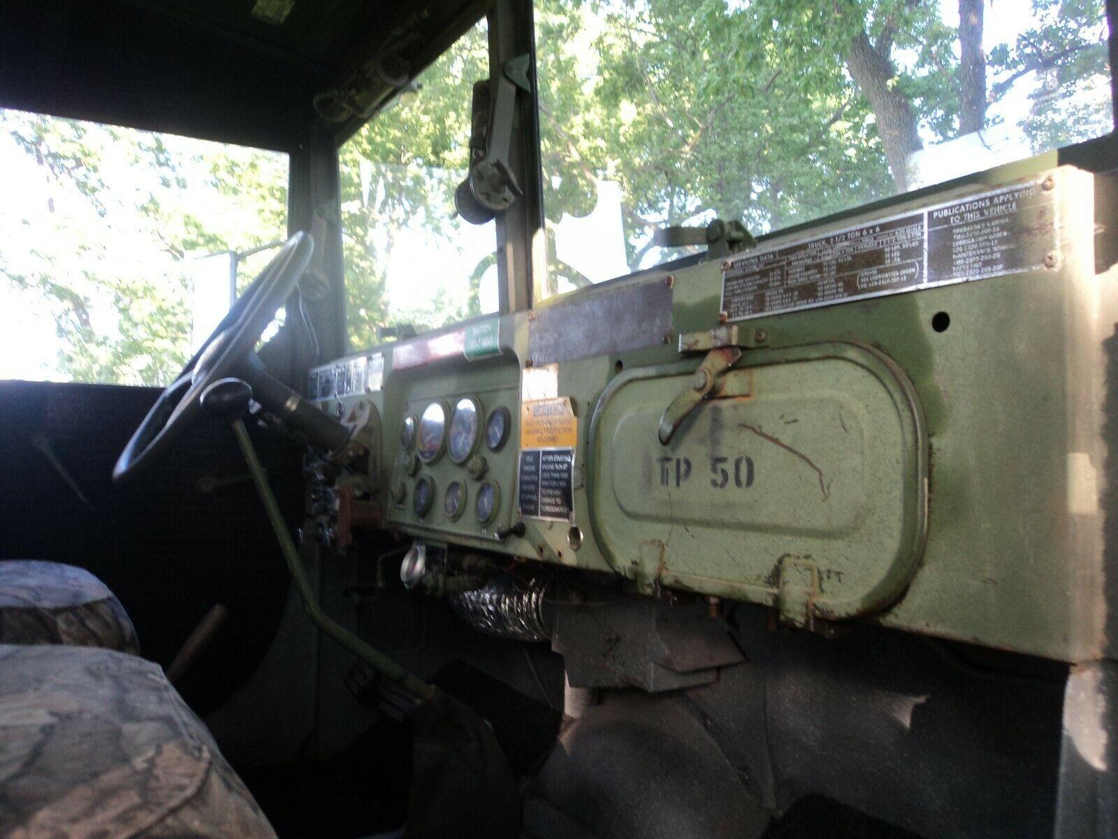 shortened 1969 AM General M 35 Deuce Bobber military